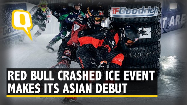 Japan's Ice Cross Fans Treated to a Spectacle in Asian Debut