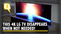 This 4K Resolution LG TV Rolls Itself Down When Not Needed