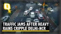 Heavy Rains Cripple Delhi-NCR, Commuters Get Stuck in Traffic