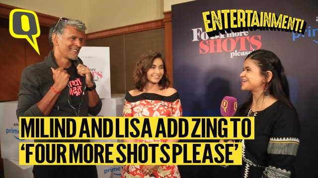 MIlind Soman and  Lisa Ray Add Fizz to 'Four More Shots Please'
