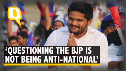 Hardik Patel : Questioning the BJP is not Being Anti-National