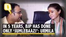 In 5 Years, BJP Has Done Only 'Jumlebaazi,' Says Urmila Matondkar