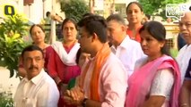 BJP Leader Tejasvi Surya Casts His Vote From Bengaluru