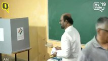 Rajinikanth Casts Vote in Chennai, Tamil Nadu