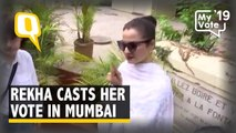 Election 2019: Actor Rekha Casts Her Vote in Mumbai