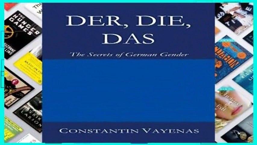 [FREE] Der, Die, Das: The Secrets of German Gender