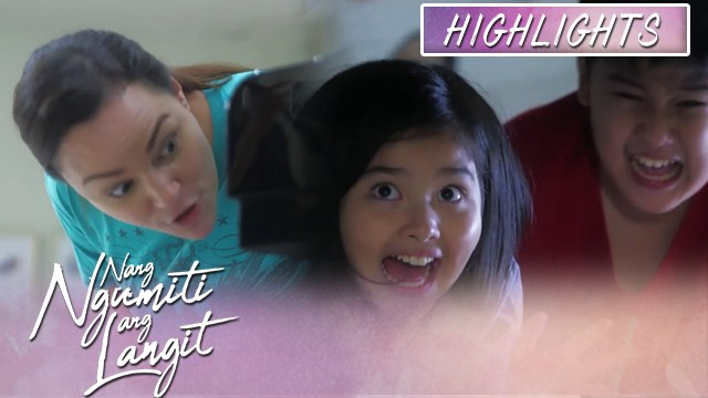 Ruth catches Mikmik and Joseph hiding under the table | Nang Ngumiti Ang Langit