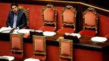 El primer ministro de Italia Giuseppe Conte presenta su dimisión