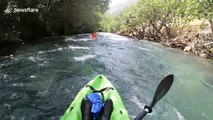 Kayakers capsize while battling Bosnia and Herzegovina rapids