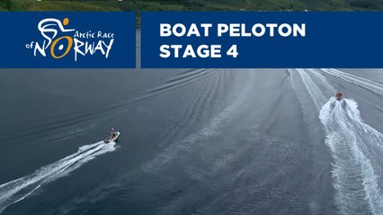Boat peloton - Stage 4 - Arctic Race of Norway 2019