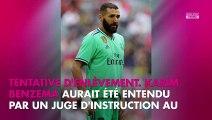 Karim Benzema entendu par la justice comme témoin dans une affaire d'extorsion