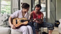 Emma Watson and first crush Tom Felton reunite for guitar lesson