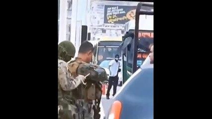 Vídeo mostra momento em que sniper atira contra sequestrador no Rio de Janeiro