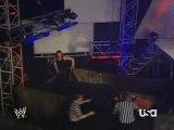 WWE Raw Jeff Hardy vs Randy Orton, Jeff jumps 30ft+