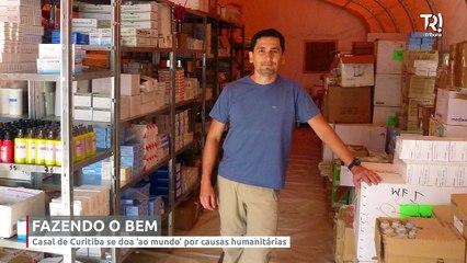 Casal de Curitiba se doa 'ao mundo' por causas humanitárias