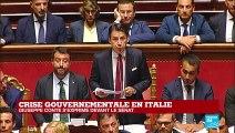 """En Italie, Giuseppe Conte juge """"irresponsable"""" de la part de Salvini d'avoir déclenché la crise"""