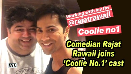 Comedian Rajat Rawail joins 'Coolie No.1' cast