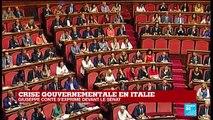 REPLAY - Le Premier ministre italien Giuseppe Conte s'exprime devant le Sénat