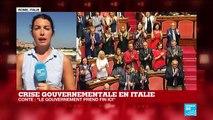 Crise gouvernementale en Italie : le gouvernement de Giuseppe Conte prend fin