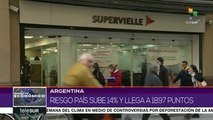 Argentina: riesgo país sube 14% y llega a 1897 puntos