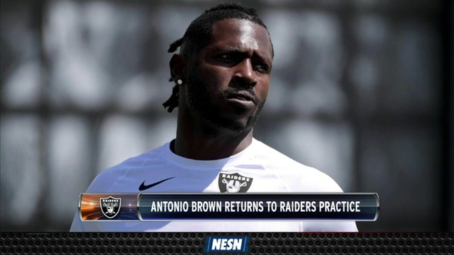 Antonio Brown (Finally) Returns To Raiders Practice