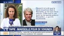 """Bernard Tapie soigné à Marseille: selon sa cancérologue, son traitement est """"unique"""""""
