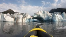 Kayakers Come Across Calving Glacier in Alaska Creating Huge Waves in Water