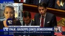 Italie: le Premier ministre Giuseppe Conte démissionne et tacle Matteo Salvini