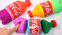 DIY How To Make Colors Play Doh Coca Cola Bottle for kids