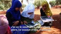 Syrie: pour les enfants déplacés par les combats, l'école a lieu sous oliviers