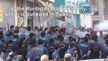 Turkish police disperse pro-Kurdish protesters in Diyarbakir