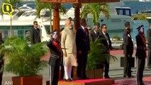 PM Modi Inspects Guards in Male, Maldives