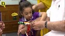 Raksha Bandhan 2019: Women and Children Tie a Rakhi to PM Modi