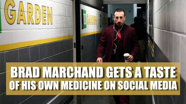 Brad Marchand gets a taste of his own medicine on social media