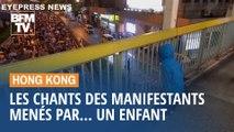Hong Kong: les chants des manifestants menés par... un enfant