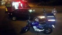 Acidente é registrado na Avenida Brasil, no Bairro Santa Cruz