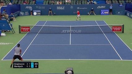 Filip Krajinovic beats Tomas Berdych 3-6 7-5 6-1