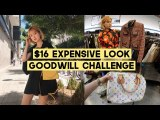 $16 Chic + Expensive lol Look Shopping Challenge at Goodwill LA | Q2HAN