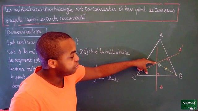 Cinquième Triangles Les trois médiatrices d'un triangle sont concourantes_3 -