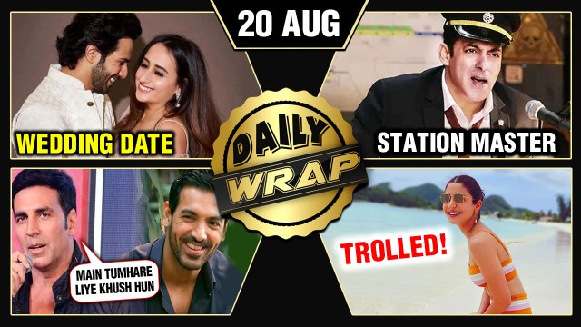 Salman Turns Station Master, Anushka Sharma TROLLED, Varun - Natsaha's Wedding Date   Top 10 News