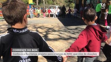 Projeto Recriança ajuda crianças carentes de comunidade da Grande Curitiba