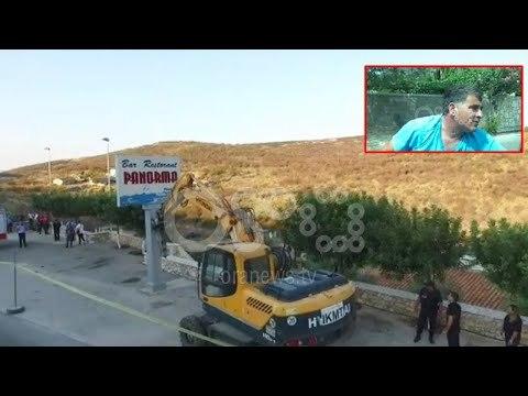 """Sulmoi turistët spanjollë, po shembet """"Panorma"""" restoranti i Mihal Kokëdhimës"""