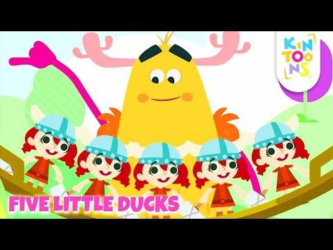 Five Little Ducks – Kids Songs & Nursery Rhymes | Learn To Count The Little Ducks | KinToons