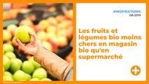 Les fruits et légumes bio moins chers en magasin bio qu'en supermarché