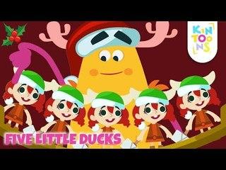 Five Little Ducks - Christmas Carol   Christmas Songs For Kids   Nursery Rhymes For Kids   KinToons