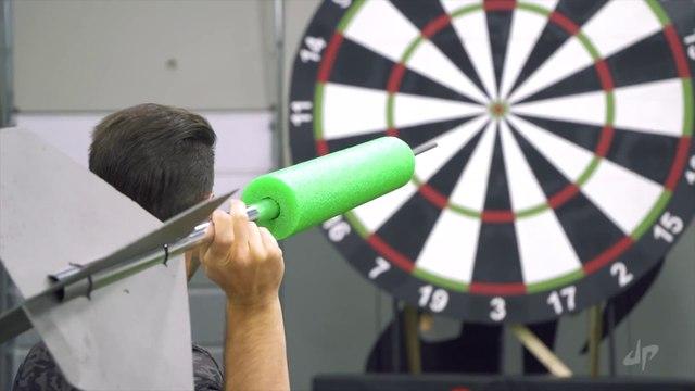 Giant Darts Battle | Dude Perfect