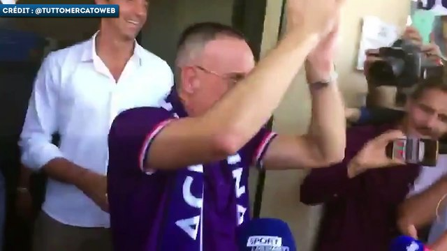 Franck Ribéry accueilli comme une rock star à la Fiorentina