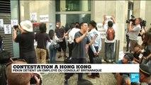 Inquiétude à Hong Kong après l'annonce de la détention d'un employé du consulat britannique par Pékin