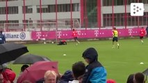 Coutinho's first training with Bayern Munich