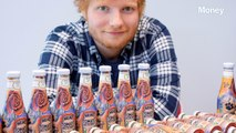 A single bottle of Heinz ketchup with an image of Ed Sheeran's tattoo sold at auction  for $1,800